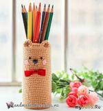 Карандашница «Медвежонок» своими руками. Автор Handmade-Paradise