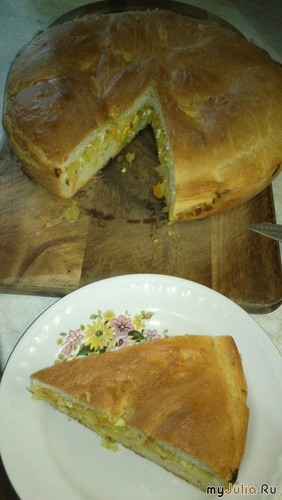 Пирог с капустой ( постный)