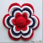 Пятислойный цветок. МК от Сольвейг