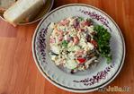 Салат из красной фасоли с куриной грудкой и болгарским перцем