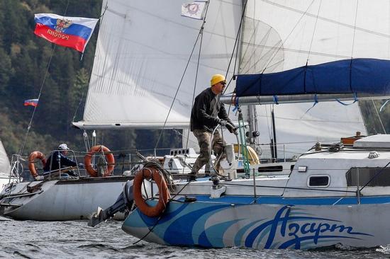 Завершение короткого парусного сезона 2020 года в Железногорске.