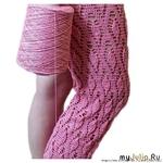 Узор для брючек, кофточек, рукавчик Автор: martes_crochet