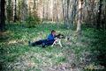 С мужем в весеннем лесу