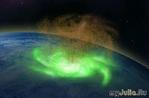 Впервые в истории космический ураган над Северным полюсом наблюдали ученые