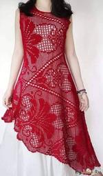 Платье от Антонины Савельевой. Крючок.