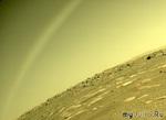 Марсоход Perseverance запечатлел «радугу» на Марсе